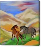 On The Mountian Canvas Print