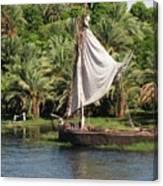 On The Nile Canvas Print