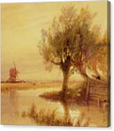 On The Norfolk Broads Canvas Print