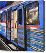On The Platform Canvas Print