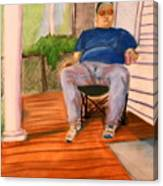 On The Porch With Uncle Pervy Canvas Print