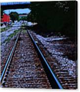 On The Railroad Tracks Canvas Print