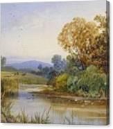 On The River Parret Canvas Print