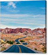 On The Road - Valley Of Fire Canvas Print