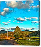 On The Road In Wv Canvas Print