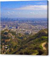On The Road To Oz La Skyline Runyon Canyon Hiking Trail Canvas Print
