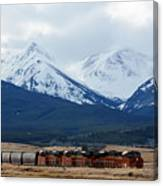 On The Rocky Mountain Front Canvas Print