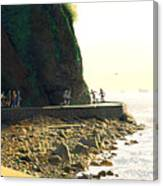 On The Seawall  Stanley Park Canvas Print