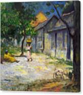 Village In Martinique Canvas Print