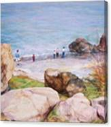 On The Shore Of The Ocean Canvas Print