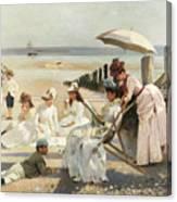 On The Shores Of Bognor Regis Canvas Print