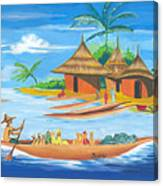 On The Shores Of Lake Kivu In Congo Canvas Print