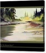 On The Skeena River Canvas Print