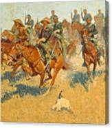 On The Southern Plains Frederic Remington Canvas Print