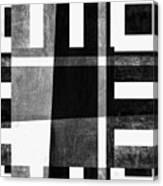 On The Tarmac Designer Series 3a14bwflip Canvas Print
