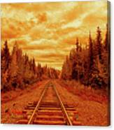 On The Tracks Canvas Print