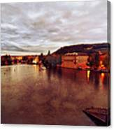 On The Vltava River Canvas Print