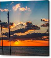 On The Water Front Canvas Print
