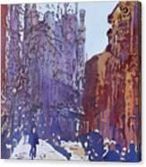 On The Way To The Sagrada Familia Canvas Print