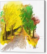 On The Yellow Road Canvas Print