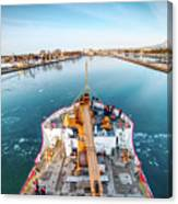 On Top Uscg Cutter Mackinaw -1014 Canvas Print
