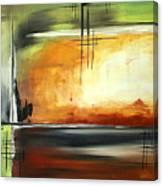 On Track Original Madart Painting Canvas Print