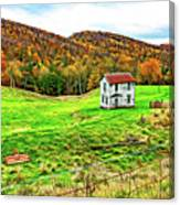 Once Upon A Mountainside 2 - Paint Canvas Print