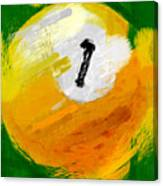 One Ball Abstract Canvas Print