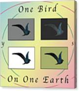 One Bird Poster And Greeting Card V1 Canvas Print