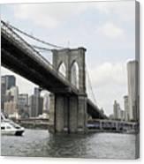 One Day At Brooklyn Bridge Canvas Print
