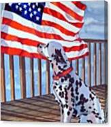 One Dog Salute Canvas Print