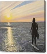 One Last Paddle Canvas Print