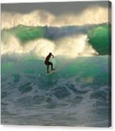 One Last Wave Dumps Maui Hawaii Canvas Print