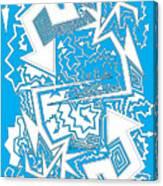 One Liner X Jtl Canvas Print