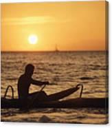 One Man Canoe Canvas Print