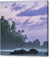 One Man Island Canvas Print