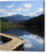 One Mile Lake Walkway Pemberton Canvas Print