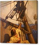 One More Step Mr. Hands - N.c. Wyeth Painting Canvas Print