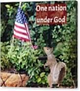 One Nation Under God Canvas Print