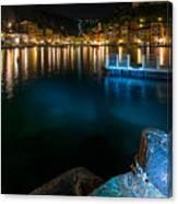 One Night In Portofino - Una Notte A Portofino Canvas Print