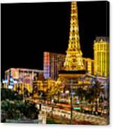 One Night In Vegas Canvas Print
