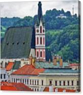 One Of The Churches In Cesky Kumlov In The Czech Republic Canvas Print