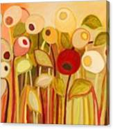 One Red Posie Canvas Print