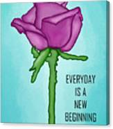 One Rose Everyday Canvas Print