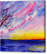 One Sunrise Canvas Print