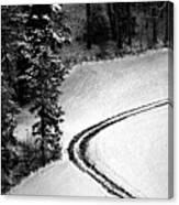 One Way - Winter In Switzerland Canvas Print