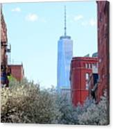 One World Trade Center In Spring Canvas Print