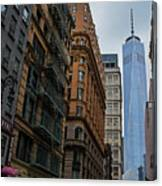 One World Trade Center New York Ny From Nassau Street Canvas Print