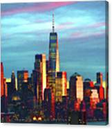 One World Trade Sunset Spectacle Canvas Print