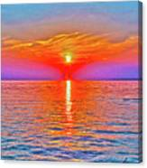 Oneida Lake Sunset Art Canvas Print